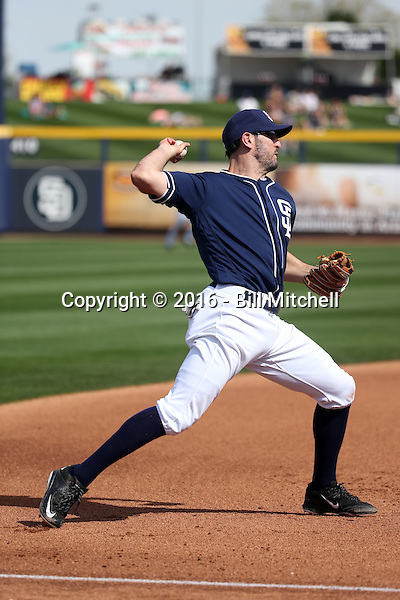 Adam Rosales - San Diego Padres 2016 spring training (Bill Mitchell)