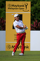 Sunghoon Kang (KOR) on the 4th tee during Round 3 of the Maybank Malaysian Open at the Kuala Lumpur Golf & Country Club on Saturday 7th February 2015.<br /> Picture:  Thos Caffrey / www.golffile.ie