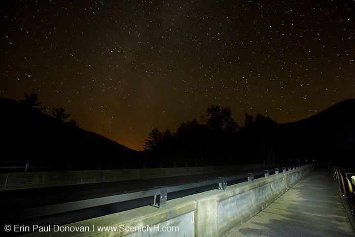Kancamagus Scenic Byway (Route 112) in Lincoln, New Hampshire USA during the night.