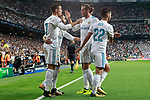 Real Madrid's Cristiano Ronaldo, Dani Carvajal, Garet Bale and Isco Alarcon celebrate goal during Champions League Group H match 1. September 13,2017. (ALTERPHOTOS/Acero)