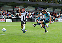 Matt Bloomfield of Wycombe Wanderers has a shot on goal during the Friendly match between Maidenhead United and Wycombe Wanderers at York Road, Maidenhead, England on 30 July 2016. Photo by Alan  Stanford PRiME Media Images.