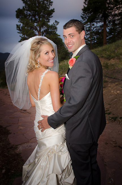 MacKenzie and Marty's wedding day at Marys Lake Lodge in Estes Park, Colorado, Rocky Mountains, USA