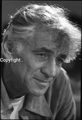 "1971 Sept. 1. - Leonard Bernstein in rehearsal of his ""Mass""<br /> <br /> Leonard Bernstein (August 25, 1918 ? October 14, 1990) was an American conductor, composer, author, music lecturer and pianist. He was the first conductor born and educated in the United States of America to receive world-wide acclaim[citation needed]. He is perhaps best known for his long conducting relationship with the New York Philharmonic, which included the acclaimed Young People's Concerts series, and his compositions including West Side Story, Candide, and On the Town. He is known to baby boomers primarily as the first classical music conductor to make many television appearances, all between 1954 and 1989. He is one of the most influential figures in the history of American classical music, championing the works of American composers and inspiring the careers of a generation of American musicians."