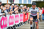 Slovakian Champion Peter Sagan (SVK) Bora-Hansgrohe arrives at sign on before the start of the 83rd edition of La Fl&egrave;che Wallonne 2019, running 195km from Ans to Huy, Belgium. 24th April 2019<br /> Picture: ASO/Gautier Demouveaux | Cyclefile<br /> All photos usage must carry mandatory copyright credit (&copy; Cyclefile | ASO/Gautier Demouveaux)