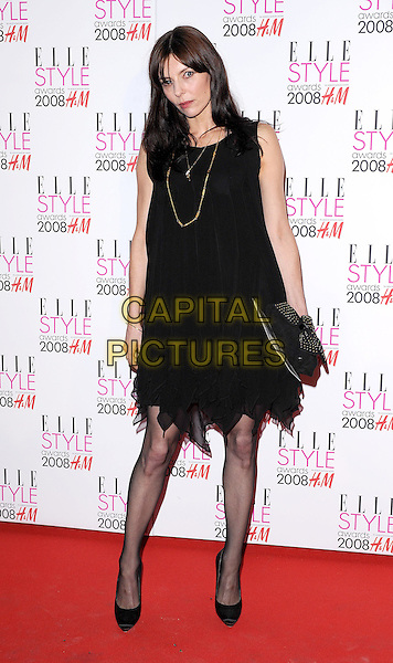 GUEST.attending the Elle Style Awards 2008, The Westway, London, England,.12th February 2008..Full length black dress.CAP/BEL.?Tom Belcher/Capital Pictures