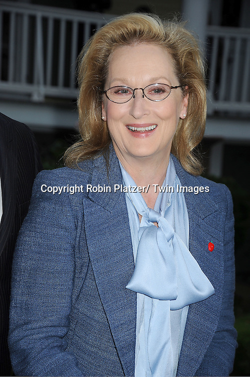 """Meryl Streep attends the """"Made in NY""""  Awards at Gracie Mansion on June 4, 2012 in New York City."""