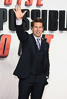 "Tom Cruise<br /> arriving for the ""Mission: Impossible Fallout"" premiere at the BFI IMAX South Bank, London<br /> <br /> ©Ash Knotek  D3414  13/07/2018"