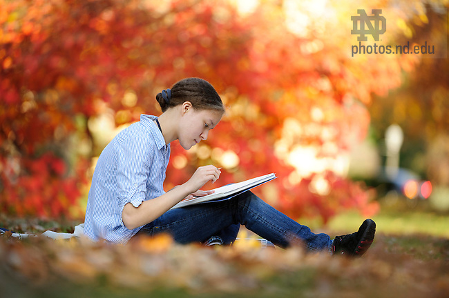 Oct. 2, 2012; Campus stock photography. Photo by Barbara Johnston/University of Notre Dame..