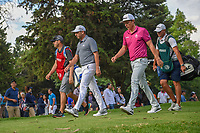 Sergio Garcia (ESP) and Cameron Smith (USA) head down 16 during round 3 of the World Golf Championships, Mexico, Club De Golf Chapultepec, Mexico City, Mexico. 2/23/2019.<br /> Picture: Golffile | Ken Murray<br /> <br /> <br /> All photo usage must carry mandatory copyright credit (© Golffile | Ken Murray)