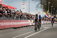 World Champion Peter Sagan (SVK/Bora Hansgrohe) finishing 4th.<br /> <br /> 53th Amstel Gold Race (1.UWT)<br /> 1 Day Race: Maastricht &gt; Berg en Terblijt (263km)