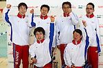 (Top L-R)<br /> Takuro Yamada,<br /> Keiichi Kimura,<br /> Kyosuke Oyama,<br /> Tomotaro Nakamura,<br /> (Bottom L-R)<br /> Takayuki Suzuki,<br /> Mayumi Narita,<br /> MARCH 6, 2016 - Swimming :<br /> Dispatch player selection meeting for Rio de Janeiro Paralympic<br /> in Fuji city, Shizuoka, Japan.<br /> (Photo by Shingo Ito/AFLO SPORT)