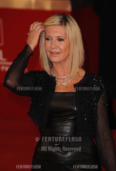 "Olivia Newton John at the premiere of ""A Few Best Men"" during the 6th International Rome Film Festival..{month name}28, 2011, Rome, Italy.Picture: Catchlight Media / Featureflash"