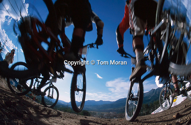 The first World Cup 4 cross race held in the US took place in Telluride, Colorado in July of 2002.. Photo &copy; Tom Moran<br /> for caption information<br /> tom-moran@earthlink.net