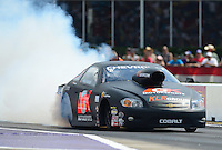 Apr. 27, 2012; Baytown, TX, USA: NHRA pro stock driver Erica Enders during qualifying for the Spring Nationals at Royal Purple Raceway. Mandatory Credit: Mark J. Rebilas-