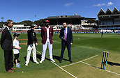 1st December 2017, Basin Reserve, Wellington, New Zealand; International Test Cricket, Day 1, New Zealand versus West Indies;  Coin toss with captains Kane Williamson and Jason Holder