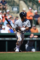 Detroit Tigers outfielder Anthony Gose (12) during a Spring Training game against the Baltimore Orioles on March 4, 2015 at Ed Smith Stadium in Sarasota, Florida.  Detroit defeated Baltimore 5-4.  (Mike Janes/Four Seam Images)
