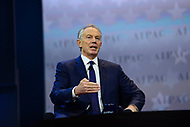Washington, DC - March 26, 2017: Tony Blair, former Prime Minister of the United Kingdom, speaks during a question and answer session during the AIPAC Policy Conference March 26, 2017 at the Washington Convention Center in the District of Columbia. (Photo by Don Baxter/Media Images International)