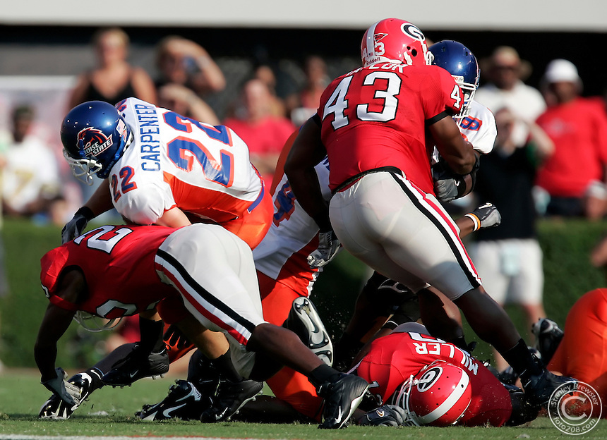 9-3-05 Athens, GA. 13th ranked Georgia vs. 18th rankrd Boise State at Sanford Stadium.