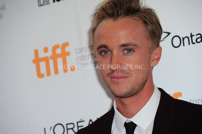 WWW.ACEPIXS.COM<br /> <br /> September 7 2013, Toronto<br /> <br /> Tom Felton arriving at the 'Therese' premiere during the 2013 Toronto International Film Festival at Isabel Bader Theatre on September 7, 2013 in Toronto, Canada.<br /> <br /> <br /> <br /> By Line: William Bernard/ACE Pictures<br /> <br /> <br /> ACE Pictures, Inc.<br /> tel: 646 769 0430<br /> Email: info@acepixs.com<br /> www.acepixs.com