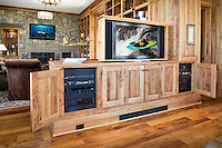Custom TV Cabinet With Undetected Racks