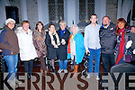 Enjoying a great night of music at the Old Oratory in Cahersiveen on Saturday night with singer songwriter Jimmy McCarthy were l-r; Nina Kyriakopoulos, Ann Landers, Mary B.Murphy, Breda O'Shea, Jimmy McCarthy, Joan Allenden, Daragh O'Driscoll, Hugh Horgan & Ilonka Duignan.