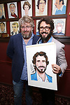 Dave Malloy and Josh Groban during the Josh Groban Sardi's Portrait Unveiling  at Sardi's on June 2, 2017 in New York City.