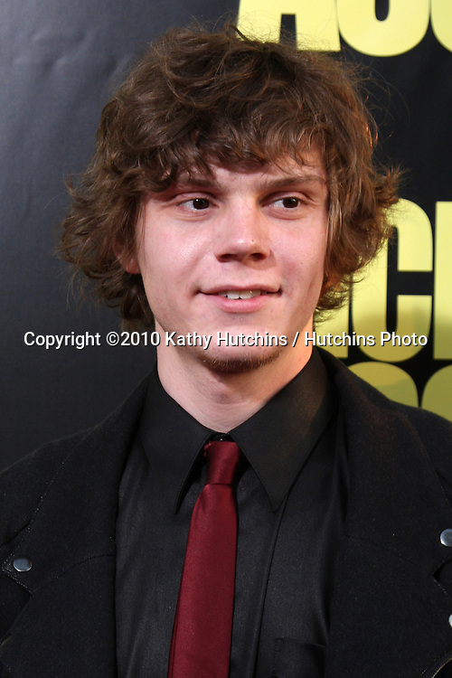 """Evan Peters  .arrives at  the """"Kick-Ass"""" Premiere.ArcLight Dome Theater.Los Angeles, CA.April 13, 2010.©2010 Kathy Hutchins / Hutchins Photo..."""