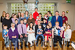 Baby party<br /> --------------<br /> Marina&amp;James Walsh, Tralee, seated centre, Christened baby Ethan last Sunday at St John's church, Tralee by Fr Donal O'Connor and after to a family celebration that included their 1st born Ryan, friends and family, in the Ballyroe Heights hotel, Tralee.
