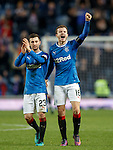 Jason Holt and Andy Halliday celebrate at full-time