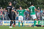 08.09.2018, pk-Sportpark, Cloppenburg, GER, FSP, SV Meppen vs Werder Bremen <br /> <br /> DFL REGULATIONS PROHIBIT ANY USE OF PHOTOGRAPHS AS IMAGE SEQUENCES AND/OR QUASI-VIDEO.<br /> <br /> im Bild / picture shows<br /> Pascal Hackethal (Werder Bremen U19 #50) bejubelt seinen Treffer zum 1:3, <br /> <br /> Foto &copy; nordphoto / Ewert