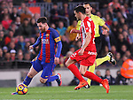 01.03.2017 Barcelona.La Liga game 25. Picture show Leo Messi in action between FC Barcelona v Sporting at Camp Nou