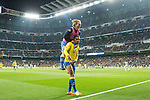 Prince Boateng, Alen Halilovic  of UD Las Palmas celebrates after scoring a goal  during the match of Spanish La Liga between Real Madrid and UD Las Palmas at  Santiago Bernabeu Stadium in Madrid, Spain. March 01, 2017. (ALTERPHOTOS / Rodrigo Jimenez)