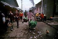 April 15th, 1989, Poyang, Jiangxi Province, China: daily life, market scenes.