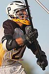 Palos Verdes, CA 03/30/10 - Ryan Hack (Peninsula #20) in action during the Palos Verdes-Peninsula JV Boys Lacrosse game.