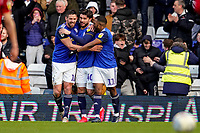 1st February 2020; St Andrews, Birmingham, Midlands, England; English Championship Football, Birmingham City versus Nottingham Forest; Scott Hogan of Birmingham City celebrates scoring the equaling goal for 1-1 in the 43rd minute