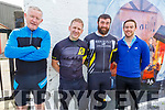 Relaxing before the  Currow LGFA road cycle on Sunday. <br /> L to r: Sean Cronin (Miltown), Alfie Giles (Castlemaine), Mike McEnery (Killarney) and Dave McSherry (Killarney).