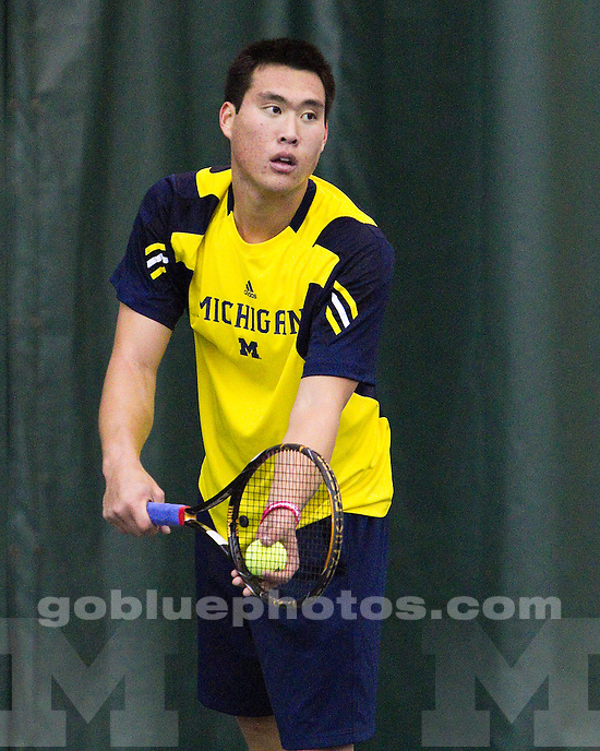 University of Michigan men's tennis 5-2 loss to Minnesota University at Varsity Tennis Center in Ann Arbor, MI on April 3, 2011.