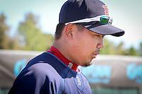 Pitcher Daisuke Matsuzaka. Boston Red Sox return for spring training, Fort Myers, Florida, USA, Feb. 13, 2011. Photo by Debi Pittman Wilkey