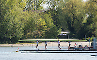 Brandenburg. GERMANY. GBR W4X. Boating, at the 2016 European Rowing Championships at the Regattastrecke Beetzsee<br /> <br /> Thursday  05/05/2016<br /> <br /> [Mandatory Credit; Peter SPURRIER/Intersport-images]