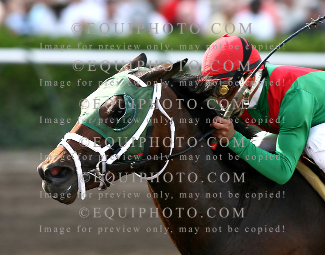 King Of The Roxy #8 with Edgar Prado riding won the $150,000 Hutcheson Stakes at Gulfstream Park in Hallandale, Florida on Saturday March 3, 2007. Photo By Bill Denver/EQUI-PHOTO.