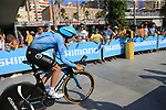 Jan Hirt (CZE) Astana Pro Team during Stage 1 of the La Vuelta 2018, an individual time trial of 8km running around Malaga city centre, Spain. 25th August 2018.<br /> Picture: Ann Clarke | Cyclefile<br /> <br /> <br /> All photos usage must carry mandatory copyright credit (© Cyclefile | Ann Clarke)