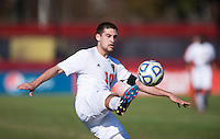 Nazmi Albadawi (10) of North Carolina State takes control of the ball during the game at Ludwig Field in College Park, MD. Virginia Tech defeated North Carolina State, 3-2, in the ACC tournament play-in game.