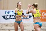 05.01.2019, Den Haag, Sportcampus Zuiderpark<br />Beachvolleyball, FIVB World Tour, 2019 DELA Beach Open<br /><br />Sandra Ittlinger (#2 GER), Kim Behrens (#1 GER)<br /><br />  Foto © nordphoto / Kurth