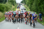 The peloton in action during Stage 4 of the 2018 Tour de France running 195km from La Baule to Sarzeau, France. 10th July 2018. <br /> Picture: ASO/Alex Broadway | Cyclefile<br /> All photos usage must carry mandatory copyright credit (&copy; Cyclefile | ASO/Alex Broadway)