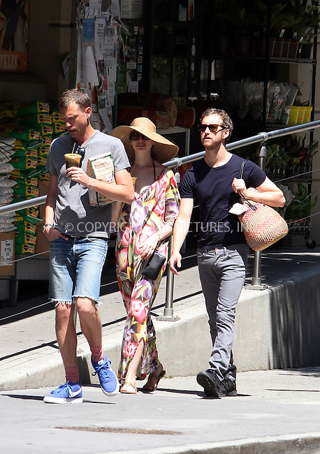 WWW.ACEPIXS.COM . . . . .  ....July 4 2012, New York City....Actress Anne Hathaway takes a stroll in Brooklyn with her fiance Adam Shulman (R) and her brother Michael Hathaway on  July 4 2012 in New York City ....Please byline: Zelig Shaul - ACE PICTURES.... *** ***..Ace Pictures, Inc:  ..Philip Vaughan (212) 243-8787 or (646) 769 0430..e-mail: info@acepixs.com..web: http://www.acepixs.com