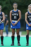 30 September 2016: Duke's Caroline Andretta. The Duke University Blue Devils hosted the Boston College Eagles at Jack Katz Stadium in Durham, North Carolina in a 2016 NCAA Division I Field Hockey match. Duke won the game 6-2.
