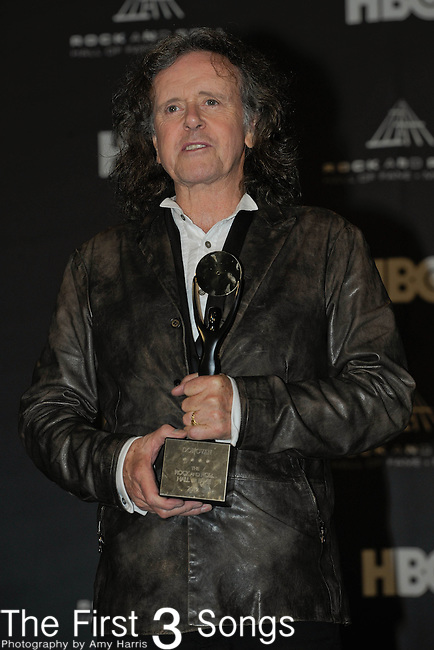 Donovan in the press room of the Rock & Roll Hall of Fame Induction Ceremony in Cleveland, Ohio on April 14, 2012.