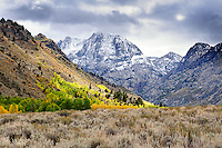 A clash of three seasons on the June Lake Loop Drive
