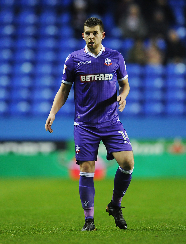 Bolton Wanderers' Jon Flanagan<br /> <br /> Photographer Kevin Barnes/CameraSport<br /> <br /> The EFL Sky Bet Championship - Reading v Bolton Wanderers - Tuesday 6th March 2018 - Madejski Stadium - Reading<br /> <br /> World Copyright &copy; 2018 CameraSport. All rights reserved. 43 Linden Ave. Countesthorpe. Leicester. England. LE8 5PG - Tel: +44 (0) 116 277 4147 - admin@camerasport.com - www.camerasport.com