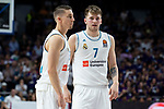 Real Madrid Jaycee Carroll and Luka Doncic during Turkish Airlines Euroleague Quarter Finals 3rd match between Real Madrid and Panathinaikos at Wizink Center in Madrid, Spain. April 25, 2018. (ALTERPHOTOS/Borja B.Hojas)